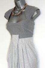 Karen Millen Grey Jersey Draped Mix Texture Cap Sleeve Short Mini Dress 12 UK 40