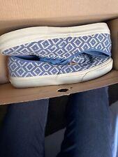 VANS Authentic Men Sneakers ERA CA 9.5 BLUE NATURAL ITALIAN WEAVE WHITE