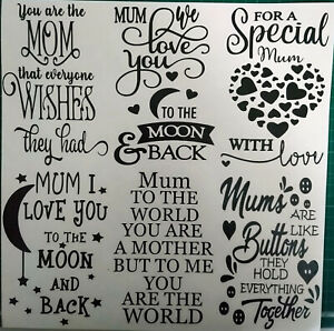 Wine Bottle Mum Mothers Day Stickers Decal Vinyl Silhouette Glass Art Crafts ETC