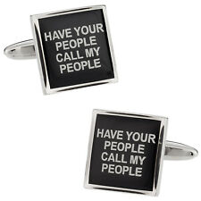 Have Your People Call My People Cufflinks Direct from Cuff-Daddy