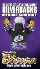 2006-07 SALMON ARM SILVERBACKS HOCKEY POCKET SCHEDULE - BCHL