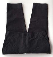 EUC Women's Tommy Bahama Black Cotton Cropped Capri Pants-Sz 12