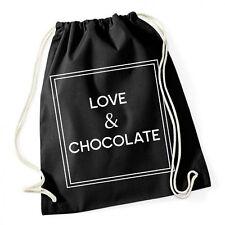 Love And Chocolate Gymsack Black Turnbeutel Liebe Schokolade Genuss Glücklich Ha