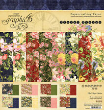 Graphic 45 Floral Shoppe Collection 8 x 8 Paper Pad 4501697 2018