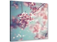 Blu Uovo D'Anatra Rosa Shabby Chic Blossom Floreale Tela 49cm Square - 1s280s