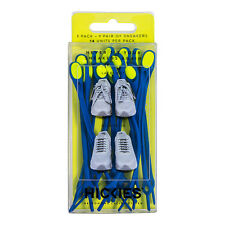 HICKIES TRAINER/SHOE LACES REPLACEMENT RESPONSIVE LACING SYSTEM.CHARCOAL GREY 10