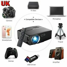 Portable 4K 1080P HD Projector 3000Lumens LED Video Home Theater HDMI USB VGA