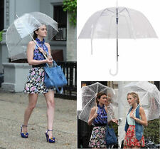 Girls Transparent Clear Mushroom Bubble Dome Rain Umbrella Parasol Wedding Party