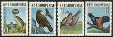 ALBANIA #672-675 FVF Original Gum SET - BIRDS EAGLE PARTRIDGES - S7853