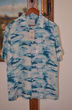 MARGARITAVILLE Men's Camp Shirt Teals Button Down SZ XL NWT $88