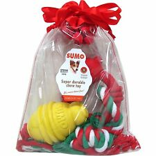 New ! Sumo Pet Toy Dog Gift Set for Small Dogs