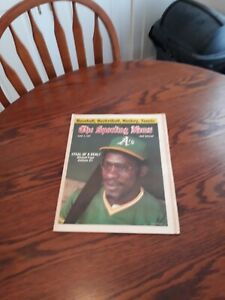 JUNE 4,1977-THE SPORTING NEWS-MITCHELL PAGE OF THE OAKLAND A's(MINT)