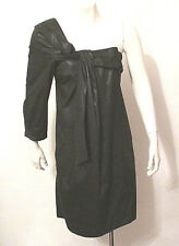 LBD See By Chloe Black Asymmetrical One Shoulder One Sleeve Mini Dress Tunic 12