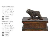 Polish Lowland Sheepdog,dog exclusive urn made of cold cast bronze, ArtDog, Ca