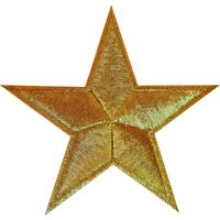 Gold Star Iron On Patch Sew On Badge Bag Clothes Crafts Embroidered Applique
