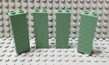 LEGO New Lot of 4 Sand Green 1x2x5 Minecraft Wall Building Brick Pieces