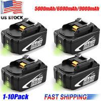 10X 18V BL1860B Lithium LXT Battery For Makita 6.0Ah BL1840 BL1815 BL1830 BL1850