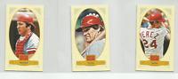 2012 Golden Age Mini Cincinnati Reds 3 Card Team Set Pete Rose Johnny Bench