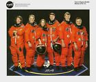 STS-112 MISSION CREW NASA OFFICIAL RELEASED 8 X 10 LITHO WITH PIERS SELLERS