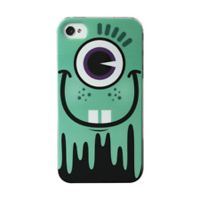 COQUE IPHONE 4 4S MONSTER VERT TURQUOISE SILICONE RIGIDE (TPU)