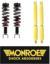 Dodge Ram 1500 4WD 09-15 Front & Rear Shocks Struts with Coil Springs Kit Monroe