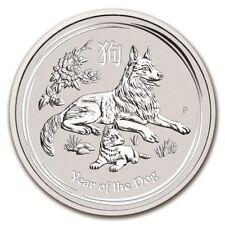 AUSTRALIEN 8 Dollar Silber 5 Unze Jahr von Chien 2018 Silber münze Year Hund