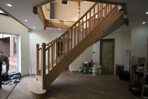 Bespoke oak staircase design service , made to measure.