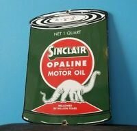VINTAGE SINCLAIR GASOLINE PORCELAIN GAS AUTO OIL QUART CAN SERVICE STATION SIGN
