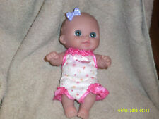 Bere 00004000 nguer Baby Doll*Soft Rubber*Big Blue Eyes*Purple Bow*Pink Dress*Collectible