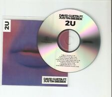 DAVID GUETTA  FT JUSTIN BIEBER - 2u REMIXES - 8 TRACK CD PROMO