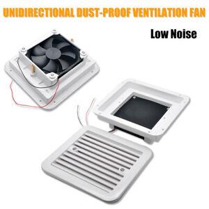 12V Side Exhaust Outlet Unidirectional Dust proof Ventilation Fan RV Caravan Van