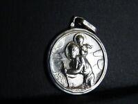 argent ancienne medaille religieuse St Christpher Alberto  22.7.37   M 175