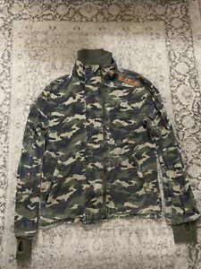 Superdry Khaki Camouflage Camo Jacket Coat Size Large Men's Fast Post Next Day