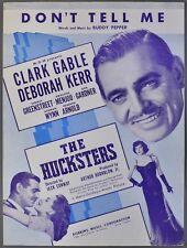 DON'T TELL ME Buddy Pepper THE HUCKSTERS Deborah Kerr CLARK GABLE 1947