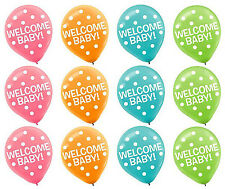 Welcome Baby Printed Latex Balloons Baby Shower Party Decoration Supplies ~ 15ct