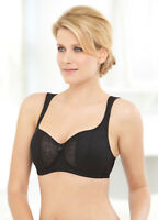 NEW DEMI Bra msrp $42 UNDERWIRE (Foam Padded Cups) WIDE-STRAPS Black CLEARANCE!