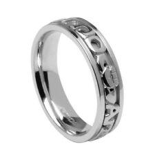 14K White Gold MO ANAM CARA Wedding Ring Band SIZE 9 Made in Ireland by Boru
