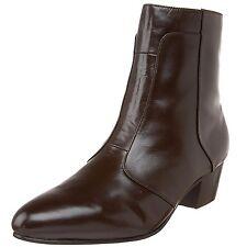 Giorgio Brutini CALLOWAY Mens Dark Brown 805752 Side Zip Cuban Heel Boots