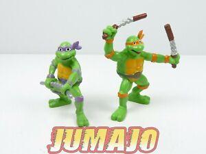 FIG4 lot2 figurines PVC BULLY 1990 Ninja Turtles : Donatello Michelangelo