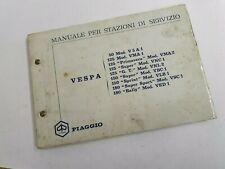 Vespa 50 Sprint Rally 180ss Gt Manuale Stazione Di Servizio Originale