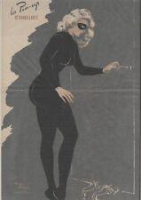 """""""PIN-UP RAT d'HÔTEL""""Affiche originale entoilée Offset Roger BRARD 50-51 34x51cm"""