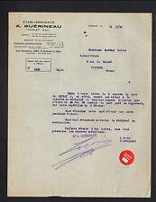 """CHOLET (49) USINE de VOITURES pour ENFANTS & JOUETS """"A. GUERINEAU"""" en 1931"""