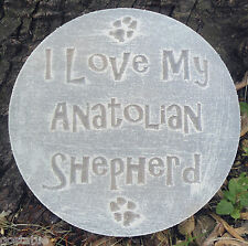 plastic Anatolian Shepherd dog plaque mold garden ornament stepping stone