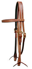 Harness leather doubled and stitched bridle or headstall - custom  USA! H1000