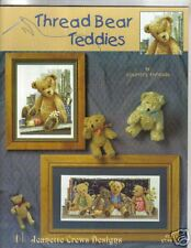 THREAD BEAR TEDDIES in cross stitch