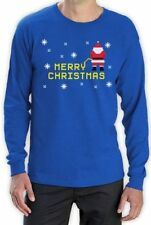 Long Sleeve Graphic Tee Christmas T-Shirts for Men