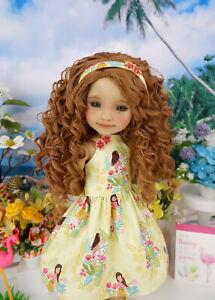 "Hawaiian Girl - dress, headband & shoes for 14.5"" Ruby Red Fashion Friends doll"