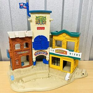 Vintage 1996 FISHER PRICE Great Adventures Wild West Town Play Set - FREE POST