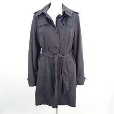 ESCADA SPORT Trenchcoat Mantel Damen Gr. DE 40 schwarz Jacket Coat