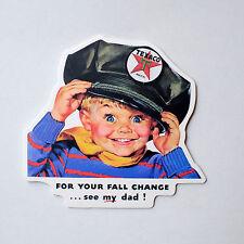 "#2206 Texaco Vintage Boy Retro Vintage Art Gas Garage 8x7cm 3"" Decal Sticker"